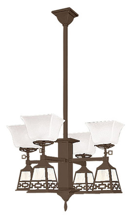 Mission-Gas-and-Electric-8-Light-Pendant-Chandelier-Chain-Shades-(599-QC1-GE)
