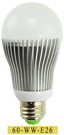 Medium Base LED Light Bulb 7 Watt - Equivalent to 75 Watt Incandescent (60-WW-E26)