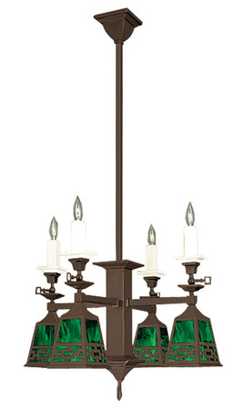 Gas Mission Candle & Electric Chandelier Chain Shade (601-QC1-SA)