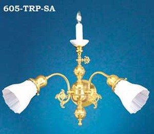Victorian Sconce - Candle Sconce Victorian Triple Transitional Sconce (605-TRP-SA)