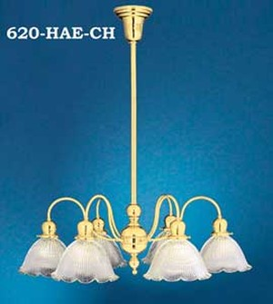 Question Mark 6 Arm Chandelier C1900 (620-HAE-CH)