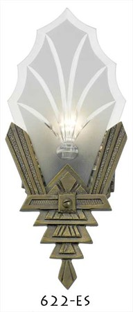 Art Deco Wall Sconces Cut Glass Lighting (622-ES)