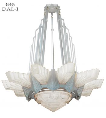 Unique LARGE Art Deco Styled Chandelier (645-DAL)
