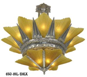 42-inch-French-Marseille-18-Light-2-Tier-Art-Deco-Slip-Shade-Chandelier-(650-18L-DKX)