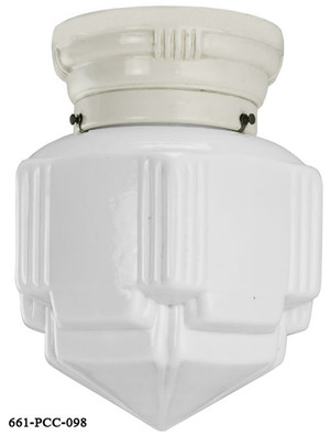 Streamline Porcelain Flush Mount Close Ceiling Light (661-PCC)