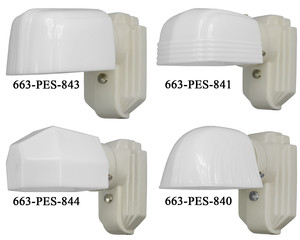 Porcelain Streamline Wall Sconce Choice of Shade (663-PES)