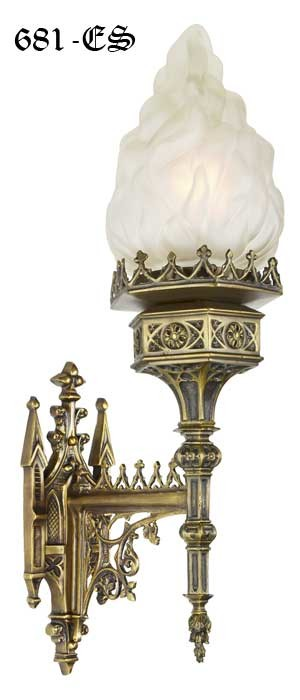 Vintage Hardware Amp Lighting Large Gothic Wall Sconce
