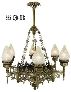 Large Gothic Chandelier (685-CH-DK)