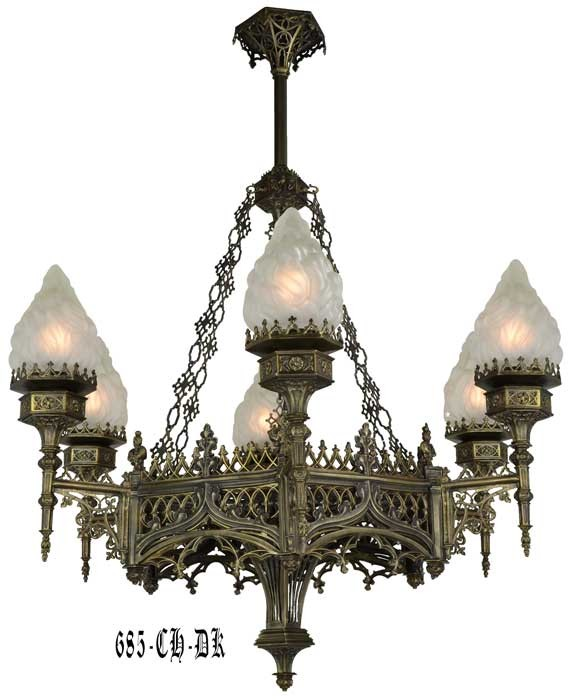 Vintage Hardware Amp Lighting Large Gothic Chandelier 685