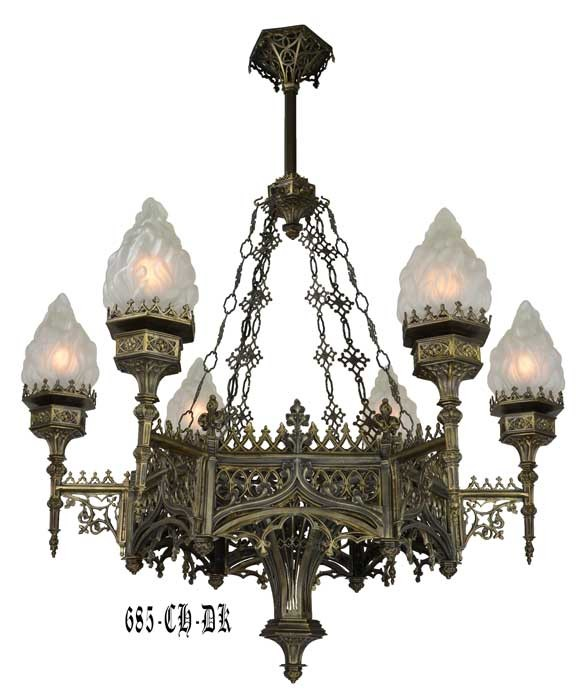 Vintage hardware lighting large gothic chandelier 685 ch dk description mozeypictures Gallery
