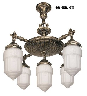 Close Ceiling Chandelier (691-CCL-CH)