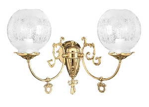 Victorian 2 Arm Gas Wall Sconce (702-DGS-ES)