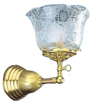 Victorian Single Sconce Light (703-GAS)
