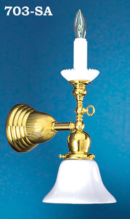 classic fit 296a4 09a7d Victorian Gas Candle Early Electric Wall Sconce Light (703-SA)