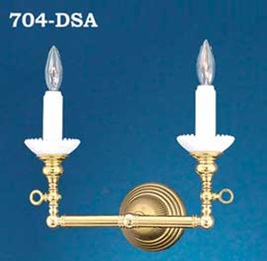 Victorian Sconce - 2 Arm Candle Wall Sconce Light (704-DSA)