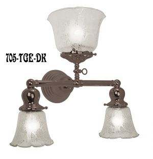 Victorian-Gas-and-Electric-Triple-Sconce-In-Antique-Brass-Finish-(705-TGE-DK)