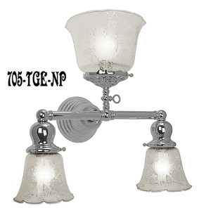 Victorian Gas & Electric Triple Sconce Nickel Plated (705-TGE-NP)
