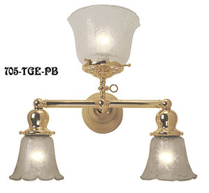 Victorian Gas & Elec 3 Light Sconce (705-TGE-PB)