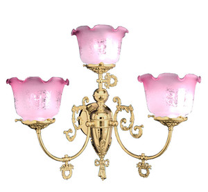 Victorian 3 Arm Wall Sconce Light (706-TRP-GS)