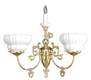 Victorian Sconce - Candle Sconce Victorian Style Triple Wall Sconce (707-TRP-SA)