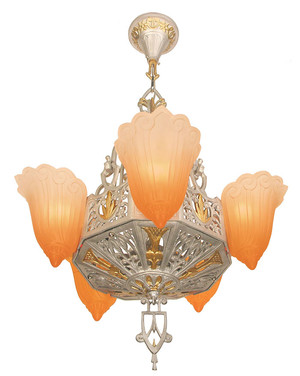 Art-Deco-Chandeliers-2-Tone-5-Light-by-Lincoln-(71-ZNEF-DL)