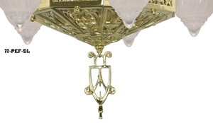 Art-Deco-Ceiling-Lights-Chandeliers-Tall-5-Light-Fleur-De-Lis-Series-(72-FEP-DL)