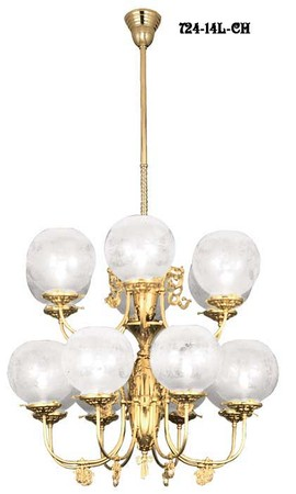 14 Arm Two Tier Chandelier Circa 1890 (724-14L-CH)