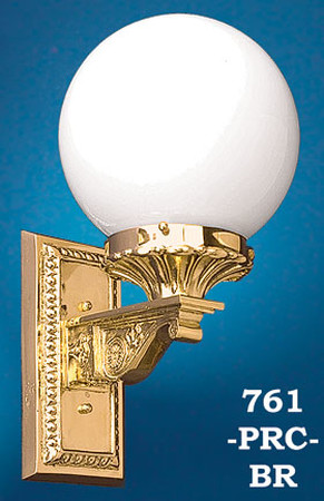 Recreated Solid Brass Porch Light Circa 1910 (761-PRC-BR)