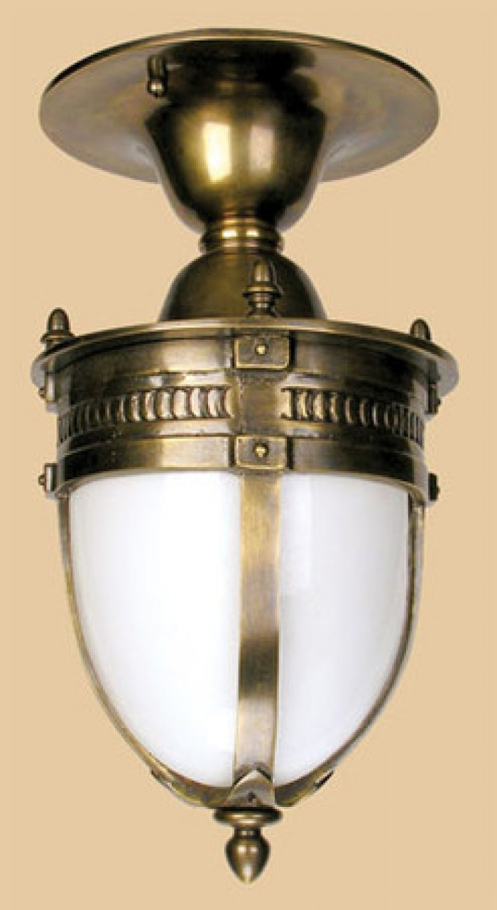 Victorian Style Knights Helmet Close Ceiling Light 764 Ccl Pb