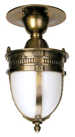 Victorian Style Knights Helmet Close Ceiling Light (764-CCL-PB)
