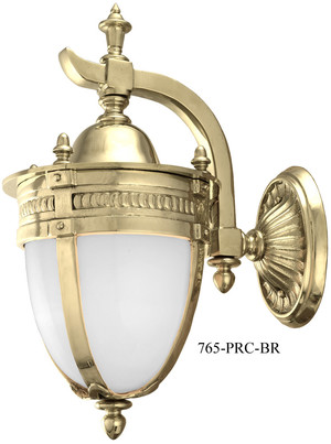 Victorian Sconce - Knight's Helmet Porch Wall Sconce c1910 Recreation (765-PRC-BR)