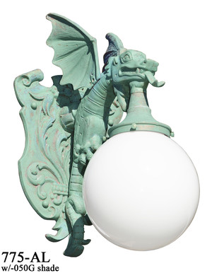 Large-Winged-Dragon-Porch-Light-Wall-Sconce-(775-AL)