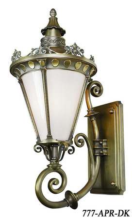 Victorian Sconce - French Quarter Recreated Wall Sconce Architectural Size (777-APR-BR)