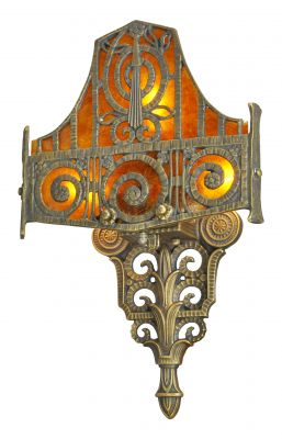Fantastic Edgar Brandt Inspired Art Deco Sconce (779-ES)
