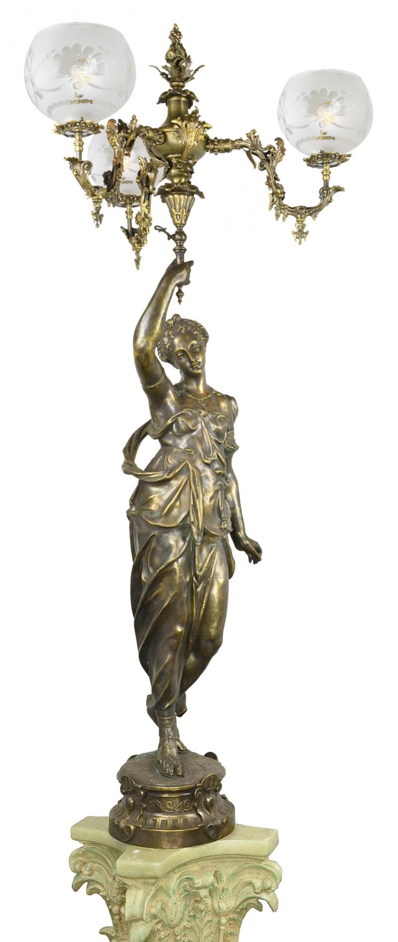 Vintage Hardware Amp Lighting Victorian Diana Figural