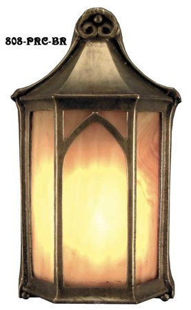 Outdoor Light Arts & Crafts Flush Mount Porch Light (808-PRC-BR)