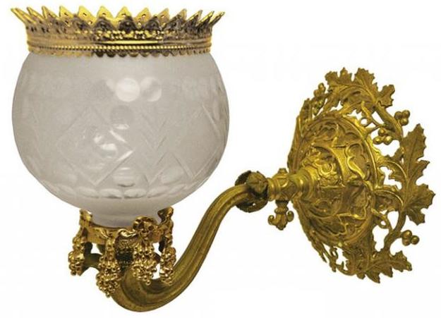 Vintage Hardware Lighting Victorian Wall Light Rococo Gaslight Sconce Recreation C 1850 874 1rs Pb