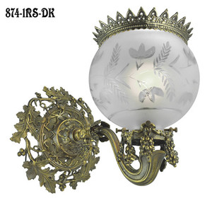 Victorian-Wall-Light---Rococo-Gaslight-Sconce-Recreation-C-1850-(874-1RS-PB)