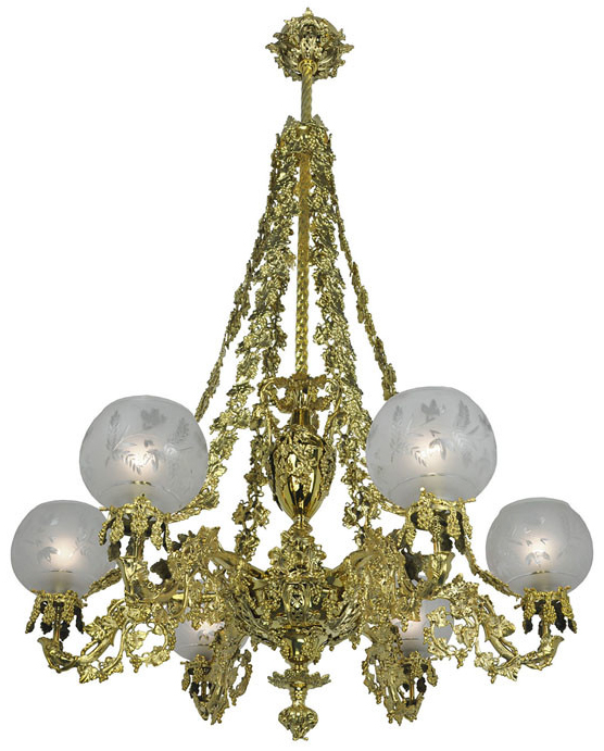 Vintage Hardware Lighting Reproduction Gas Lighting – Victorian Style Chandeliers