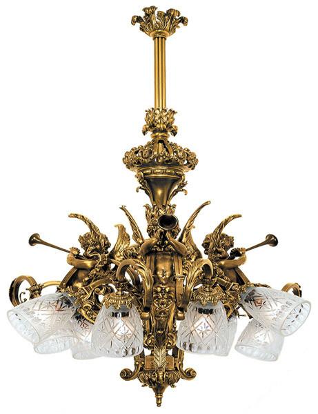 Victorian Cherub Or Cupid French 9 Light Chandelier 888 Afr Ch