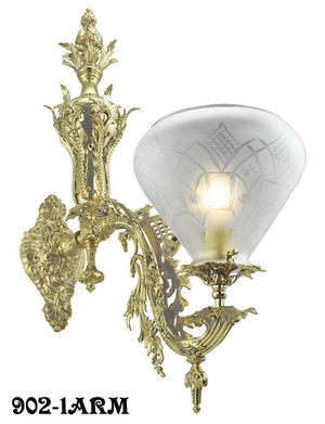 Victorian Wall Sconce - Neo Rococo Starr-Fellows 1 Arm (902-1ARM)