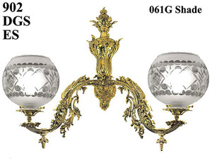 Victorian-Wall-Sconce---Neo-Rococo-C-1857-Gaslight-with-2-Arms-(902-DGS-RS)