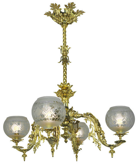 Victorian Chandelier Neo Rococo 4 Light By Starr Fellows