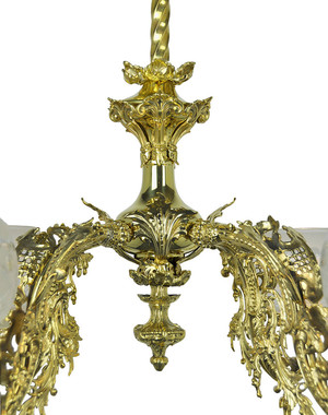 Victorian-Chandelier---Neo-Rococo-4-Light-By-Starr-Fellows-Circa-1856-(904-QRG-CH)