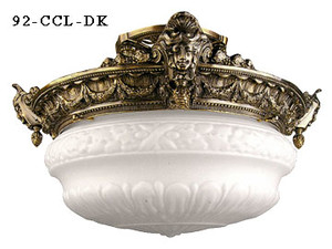 Empire-Style-Close-Ceiling-Light-2-Lamps-(92-CCL-PB)