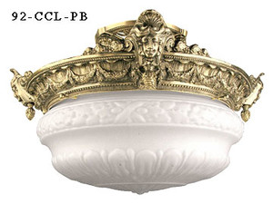 Empire Style Close Ceiling Light 2 Lamps (92-CCL-PB)