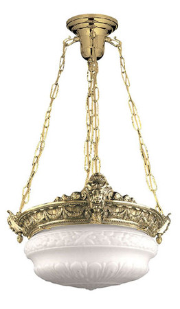 Empire Style Chain Mounted Chandelier with 4 Sockets (92-CHB-PB)