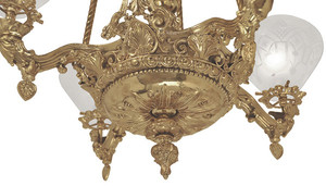 Victorian-Light---Neo-Rococo-Cupid-Center-Starr-Fellows-Gasolier-C-1856-(925-QAG-RC)