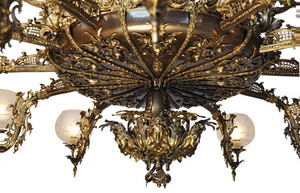 Victorian-Chandelier-Recreated-Gaslight-Neo-Rococo-3-Tiers-with-30-Lights-(930-30L-RC)