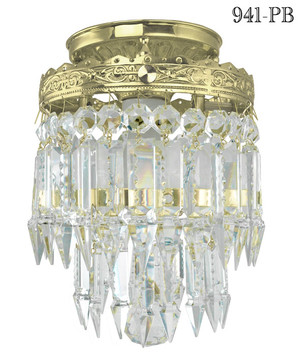 Small or Mini Crystal Prism Chandelier Pendant Light Fixture(941-PB)